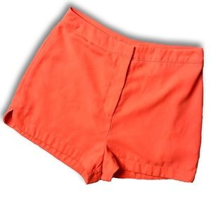 Lush Bright Orange High-Rise Flowy Shorts Medium